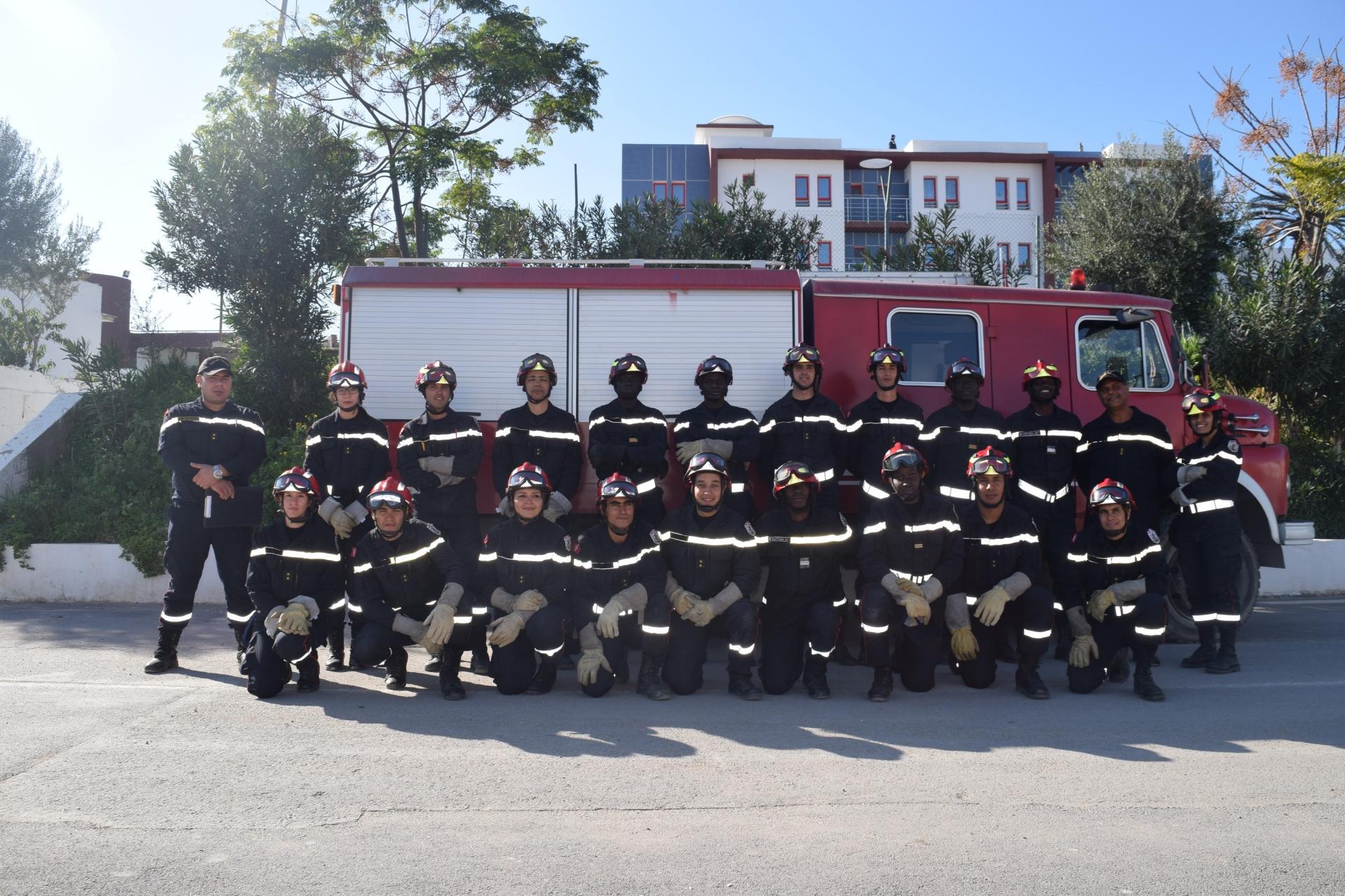 Fin du stage de formation de spécialité (SAUVETAGE-Niveau1) pour les officiers de l'école d'application