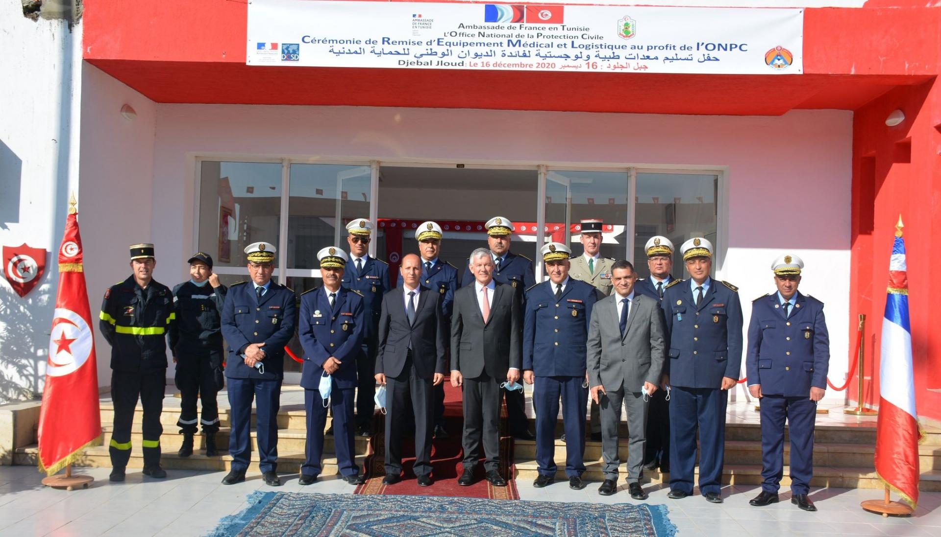 Une cérémonie de remise d'équipement médical et logistique au profit de l'ONPC