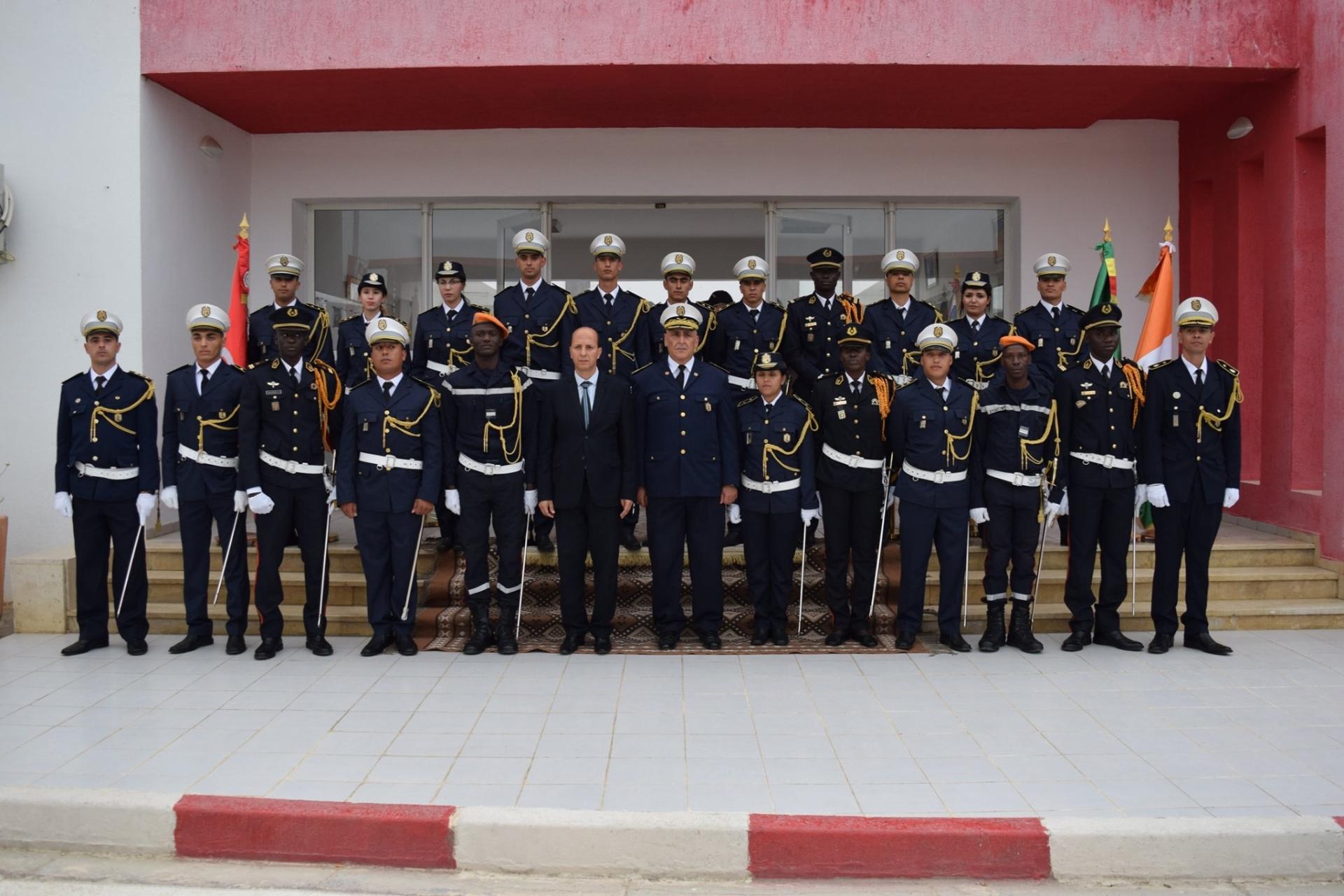 حفل تخرج الدورة التطبيقية الثالثة لضباط الحماية المدنية 14 جوان 2019 بالمدرسة الوطنية للحماية المدنية