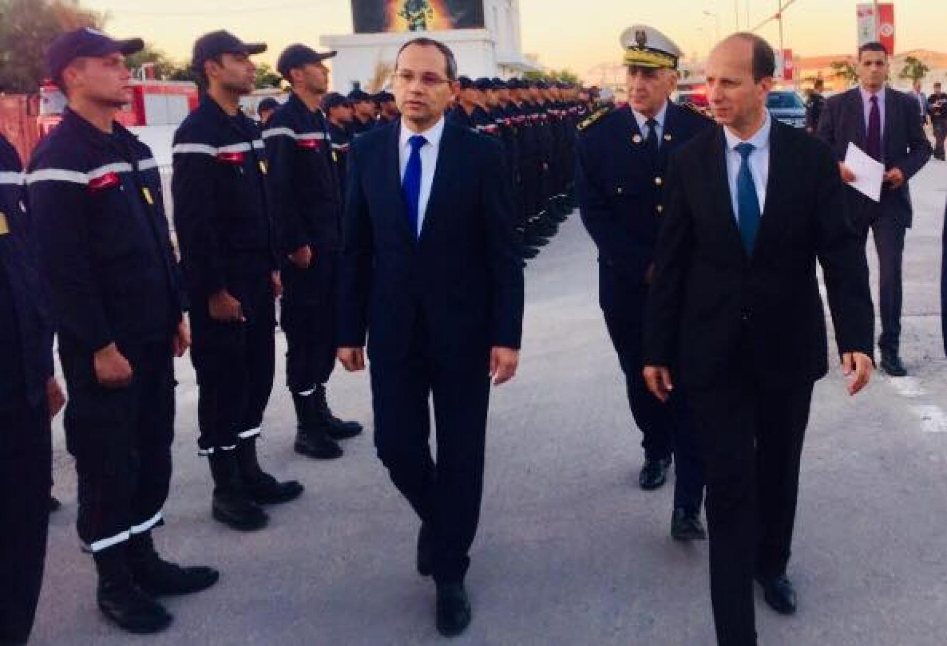 وزير الداخلية في زيارة إلى المدرسة الوطنية للحماية المدنية