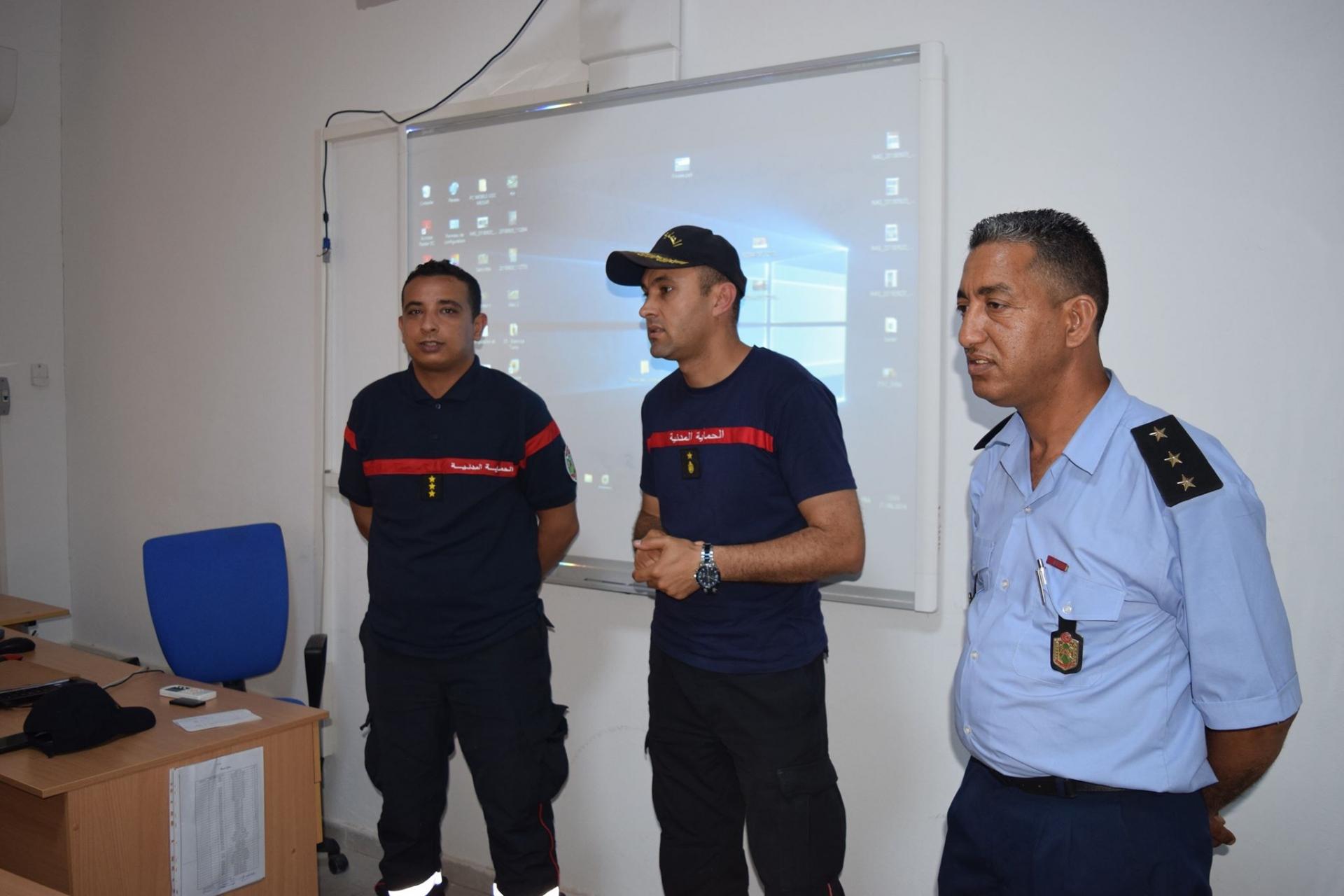 إختتام الدورة التكوينية في مجال تطبيقة التصرف في التدخلات بالمدرسة الوطنية للحماية المدنية