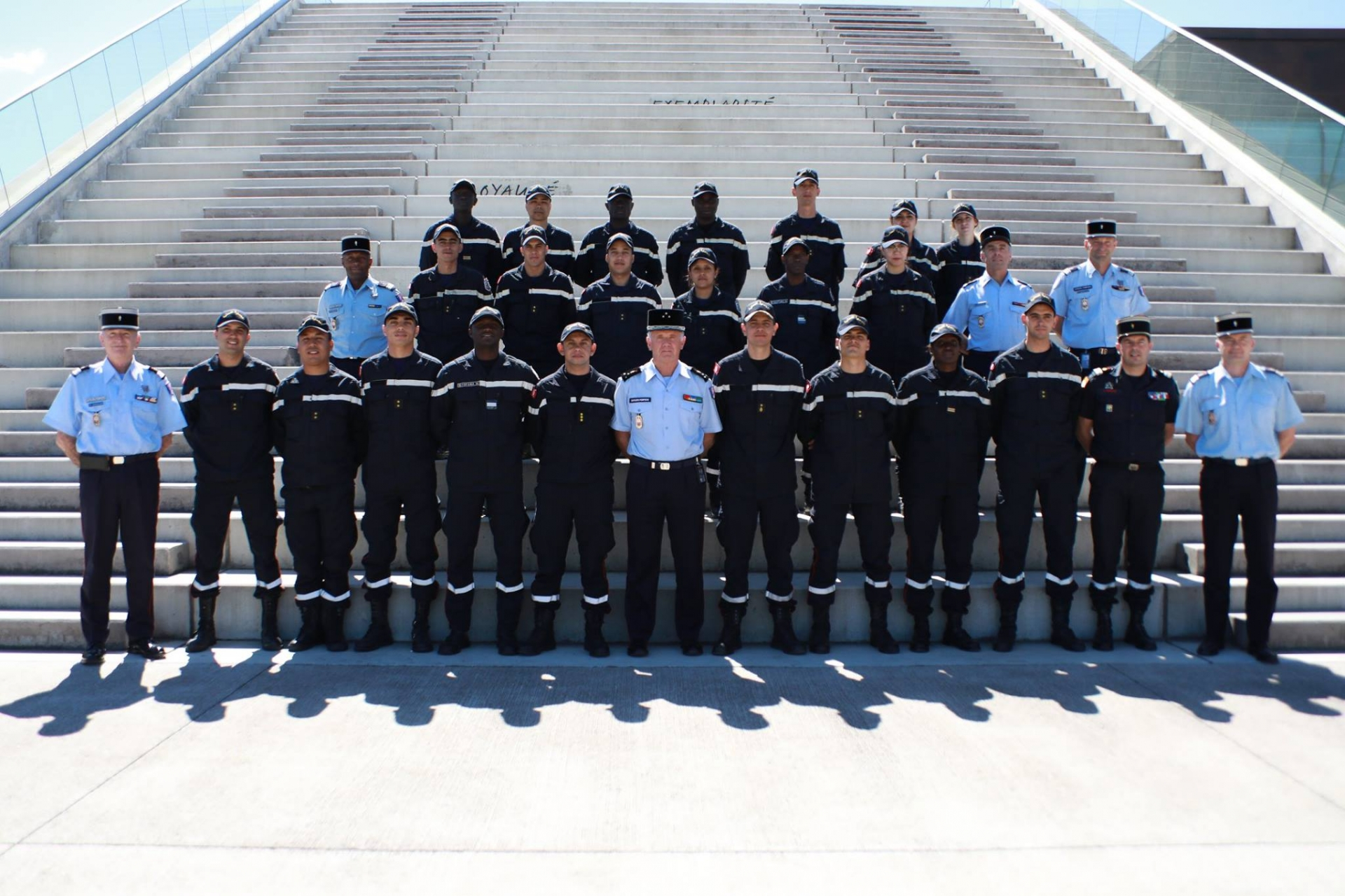 Visite Educative des lieutenants de la 3ème Promotion de l'ENPC à l'ENSOSP