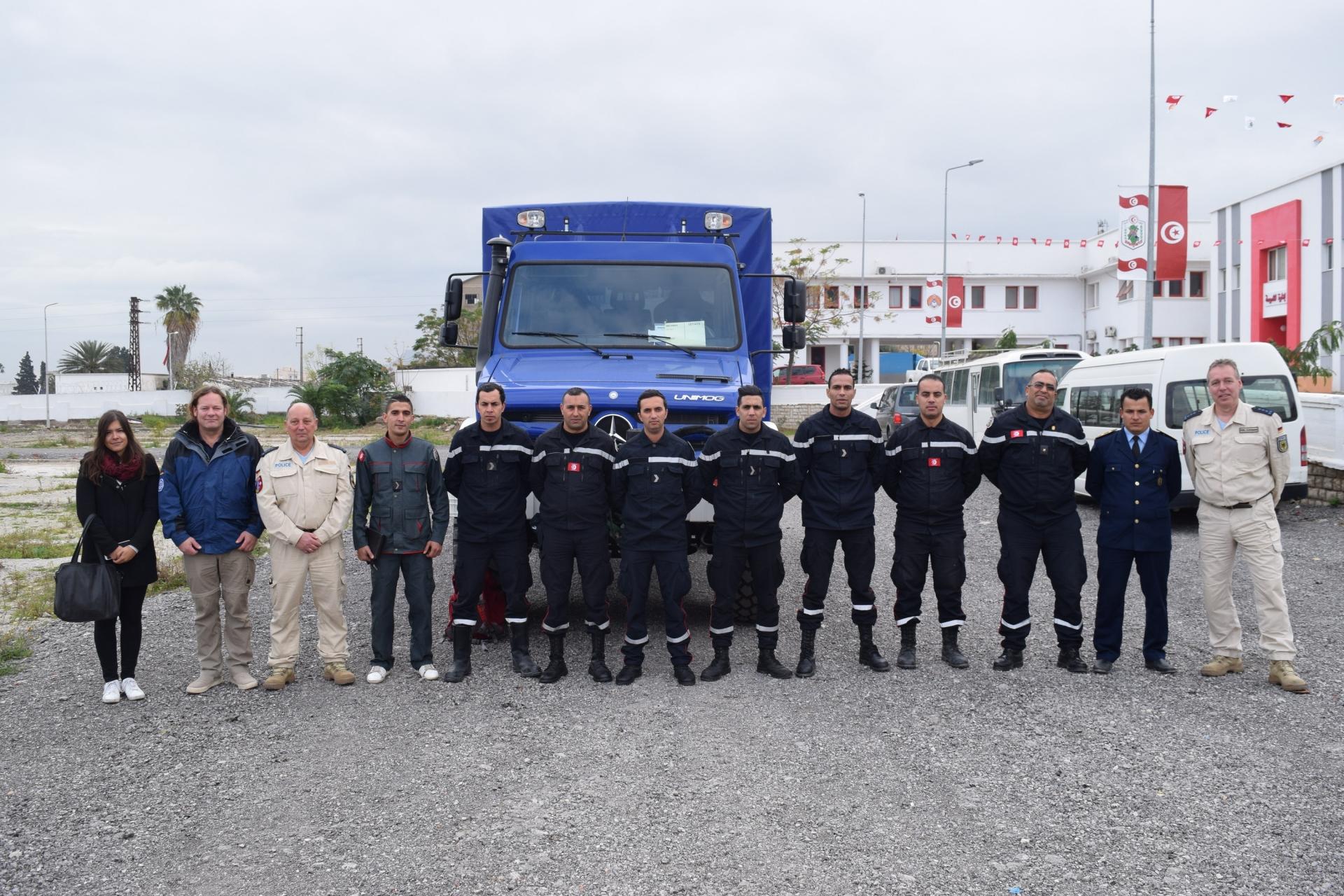 Session de formation « Conduite et Exploitation  des camions UNIMOG » à L'ENPC