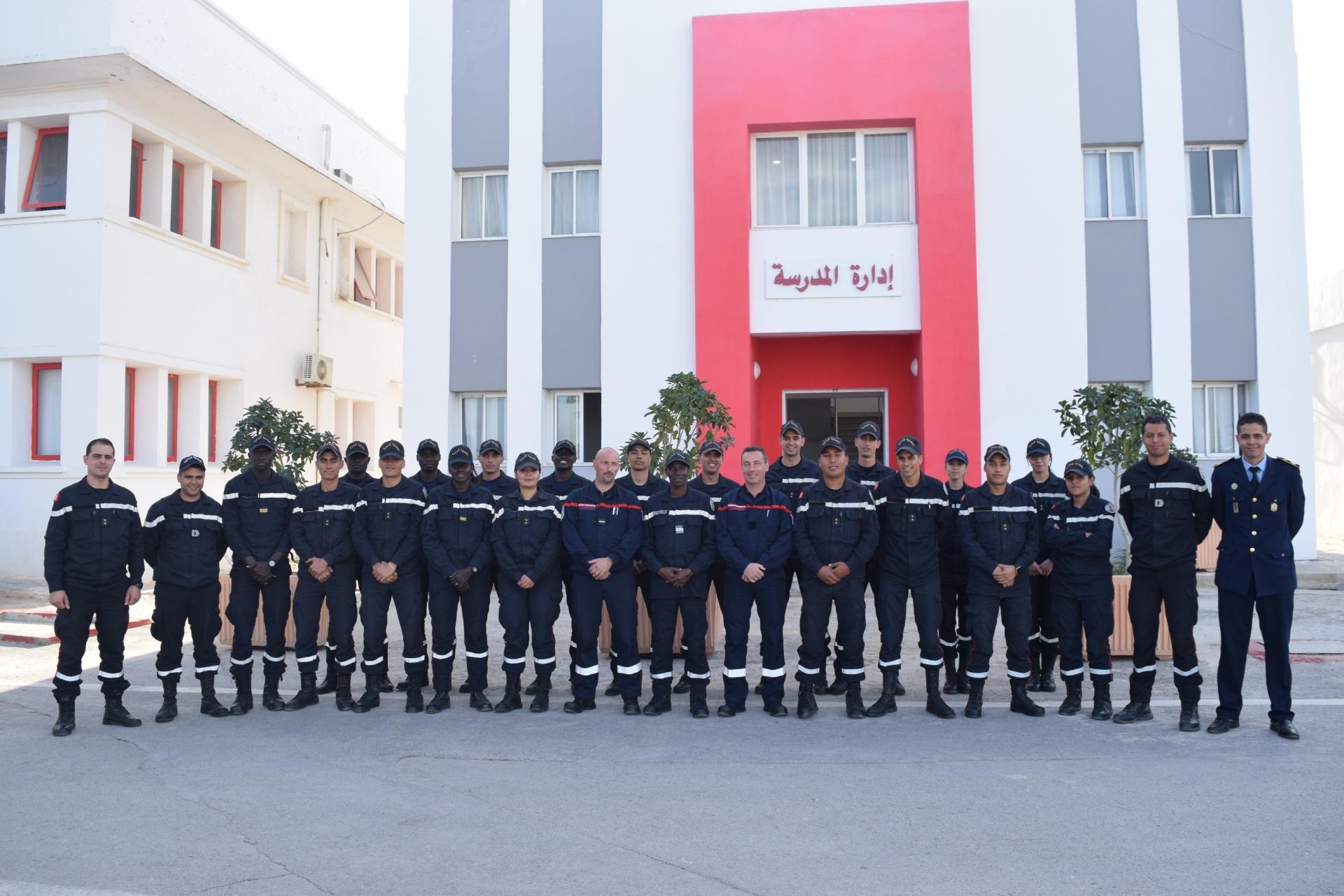 Fin du stage de formation de spécialité (SR) pour les officiers de l'école d'application