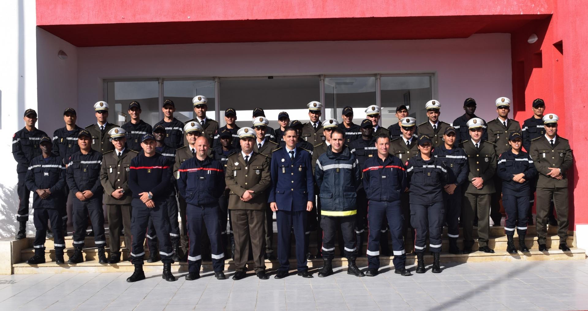 Visite des officiers de l'école d'application de la garde nationale de Bir Bouregba à L'Ecole Nationale de la Protection Civile(ENPC) de Jbel Jloud - Tunis