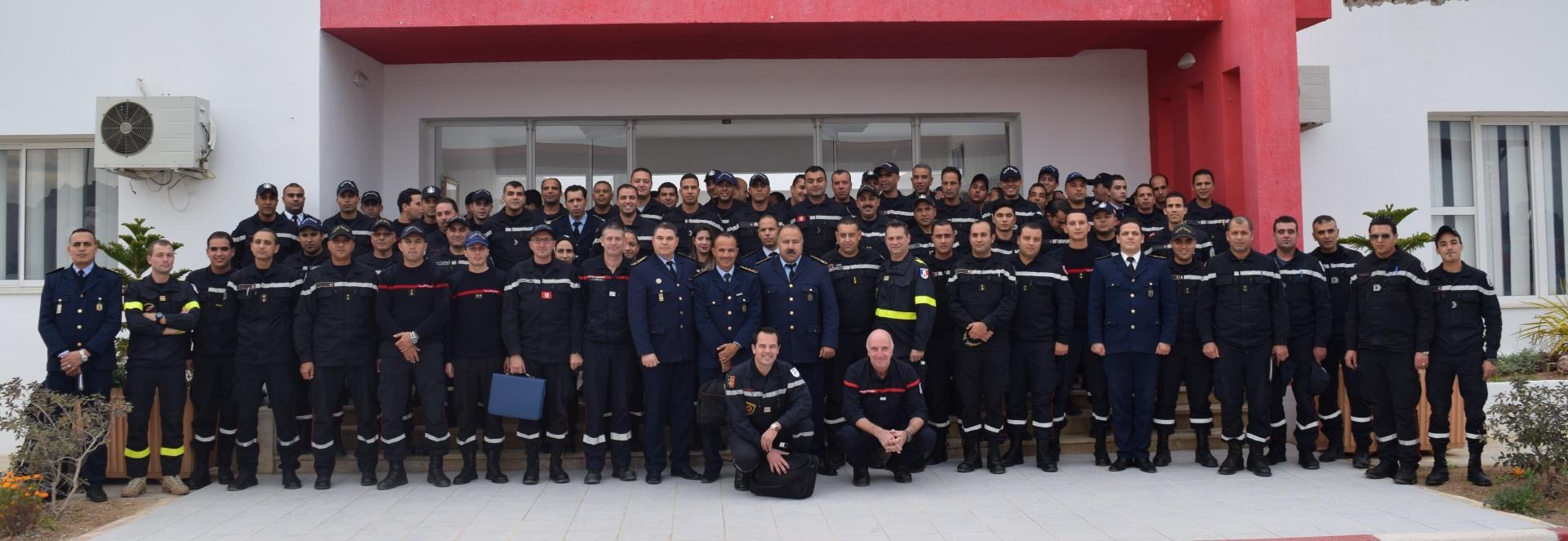 Préparation de la classification INSARAG de l'unité spéciale de la protection civile